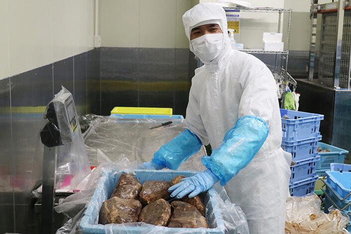 ローストビーフの製造・梱包